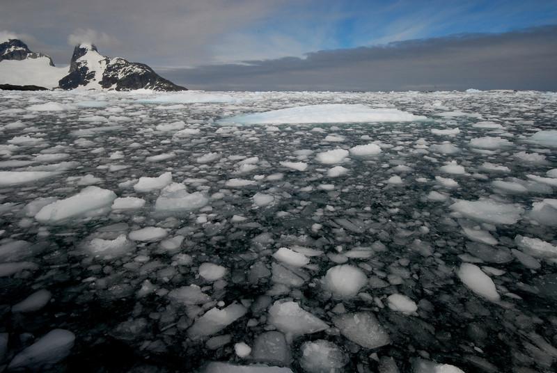 Brash ice by the peninsula