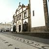 Main square in old Ponta Delgada