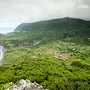 Fajazinha Valley on Flores from the mirador