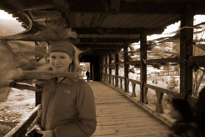 S on the Paro Dzong bridge