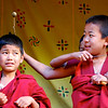 Naughty monks in Paro Dzong