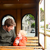 Planning our day on the tram