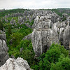 This is the great stone forest near Kunming.  It's a huge area of limestone karst