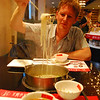 Noodle bar.  We only managed to get some food by walking around the restaurant pointing at other people's food.  All I can conclude is that Chinese chickens don't cock-a-doodle do and chinese cows don't moo.  I think they thought I was nuts..!
