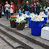Trash in the town centre.  Lijiang is totally touristed out