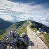 Top of Mount Lovcen, the highest point in Montenegro.  There was a weird monument on the top