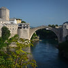 Stari Most (or old bridge) in Mostar, Bosnia.  It's actually new as the 400 year old original was destroyed in the 1990s Bosnia war