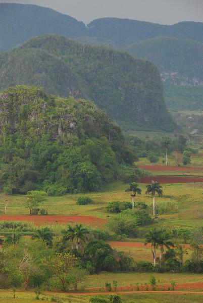 Vinales valley in afternoon rain