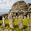 The site includes a church and a graveyard.  Outside the walls the monks grew their veg and they fished & caught seabirds