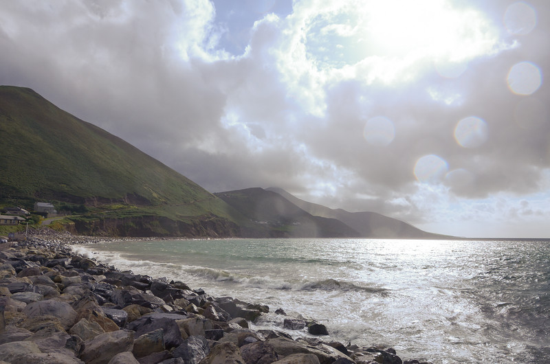 Wild sky with sun and rain at the same time at Rossbeigh