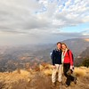 Us in the Simien Mountains (looks nice but it was after 7 hrs in a bone breaker minibus)