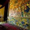 Frescos in church on Zege Peninsula on Lake Tana