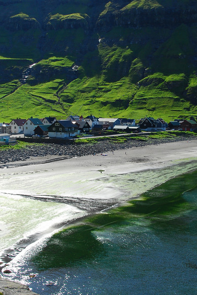 Tjornuvik is a pretty village at the end of the road