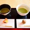 Tea ceremony with fancy sweeties and mate tea