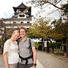Then we dropped in on S's friend Yuko, who lives in Inuyama. Inuyama is famous for 3 things in Japan:  the oldest surviving castle, fishing with cormorants & a monkey park