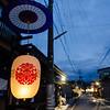 Festival lanterns in a backstreet