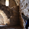 S is checking out some Crusader era stone work at Kerak castle