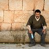 Caretaker for the mosaics at Jerash.  Looks like a tough job.