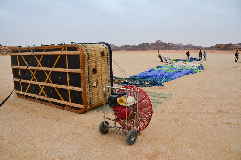 Doing a balloon trip at Wadi Rum