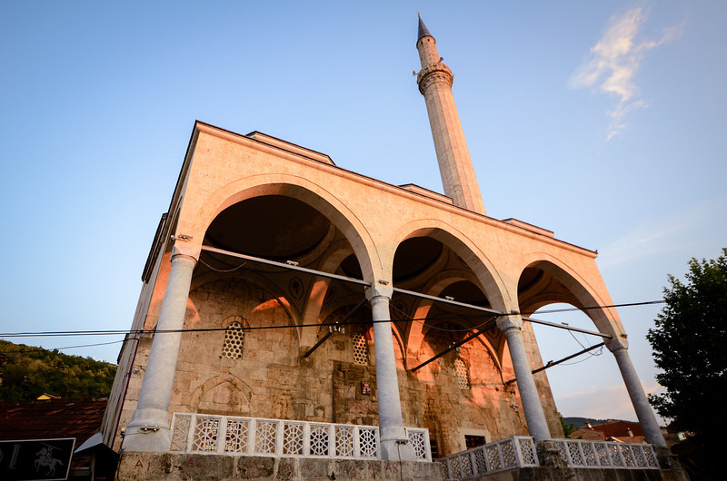 This is main ancient mosque in Prizren, which is simple and beautiful