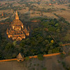Sulamani Paya from our balloon in the dawn light