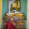Monk at work