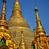 The big pagoda is 100 meters tall and covered in tons of gold