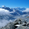 View from Kala Pattar (5,600m asl).  The spiky mountain is Ama Dablam