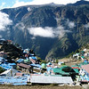 Namche Bazar is the Sherpa capital.  It sits in a bowl in the mountains at 3,440m asl