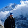 Me on the top with Mt Everest behind