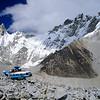 Crashed helicopter at base camp (5,400m asl)