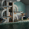 Really cool diving boards at the Children's Palace pool