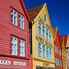 Bryggen in Bergen.  It's the ancient Hanseatic port buildings where the merchants kept their salted fish