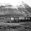 Old mining train in Ny Alesund