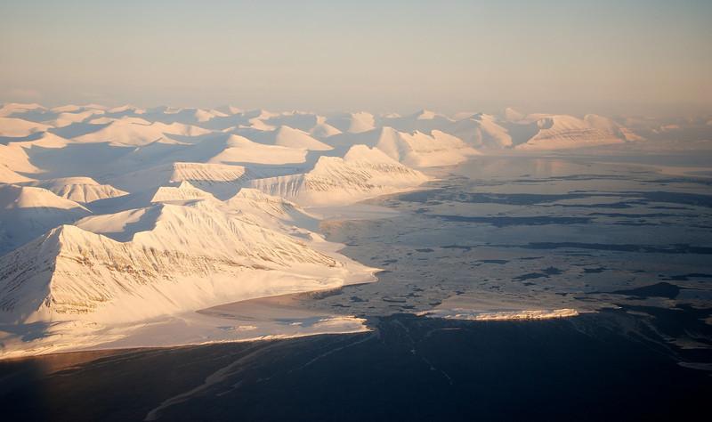 Arriving at Spitsbergen