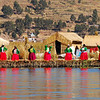 Ladies of the Uros floating islands.  The people first built the islands to get away from the Incas.  It's really beautiful