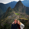 In front of Machu Picchu