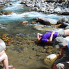 Fantastic freezing cold mountain stream.  We were dying to cool down and it was just the ticket