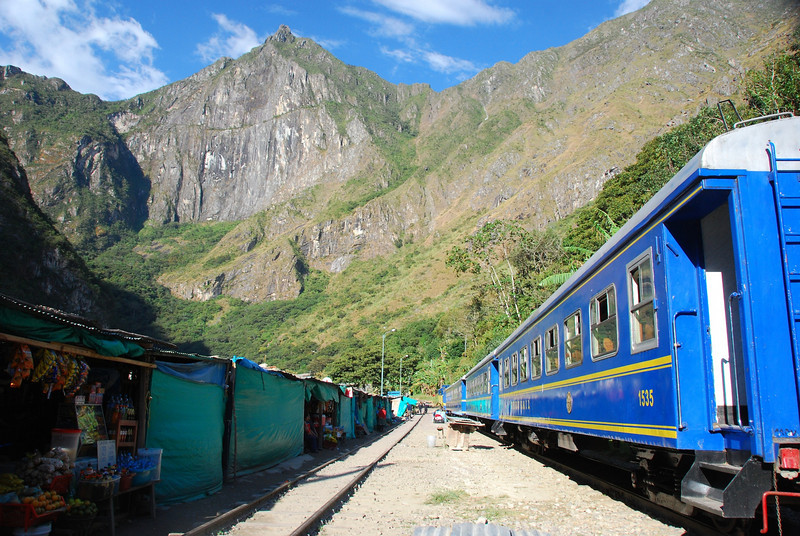 Mighty train from Hydroelectric Station to Aguas Calientes.  The train goes back and forth up a zig-zag track