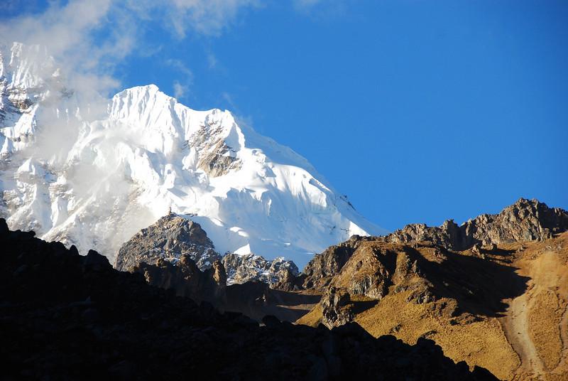 Glaciers crowning Salkantay