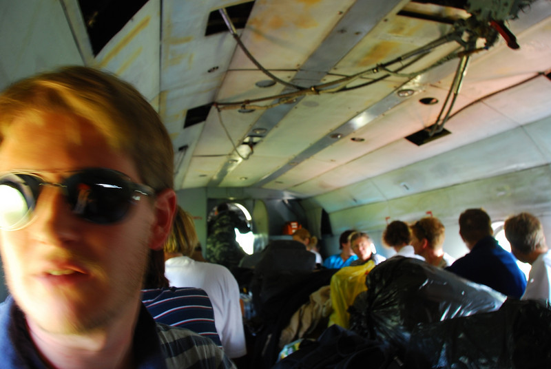 We flew in an old Mi8 helicopter to get to the nomads - they are constantly on the move and there are no roads so they have to radio in the location