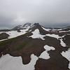 Mutnovski volcano hiding in the clouds
