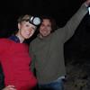 Shelda and Bertrand exploring a lava tube