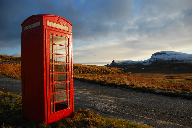 Our Christmas holiday in the Isle of Skye! Och Aye! <br /> <br /> The most remote phone box in the UK?  It was literally in the middle of nowhere
