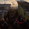 Pilgrims arriving on Adam's Peak