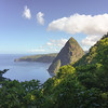 Climbing the Gross Piton - it's about 750m tall and very steep and sweaty