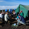 Drinks at camp 3, already well above the clouds. (3,660m asl)