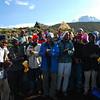 Porters' celebration once we made it to Horombo (3,800m asl)