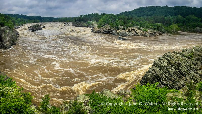The Potomac River at Great Falls, Virginia