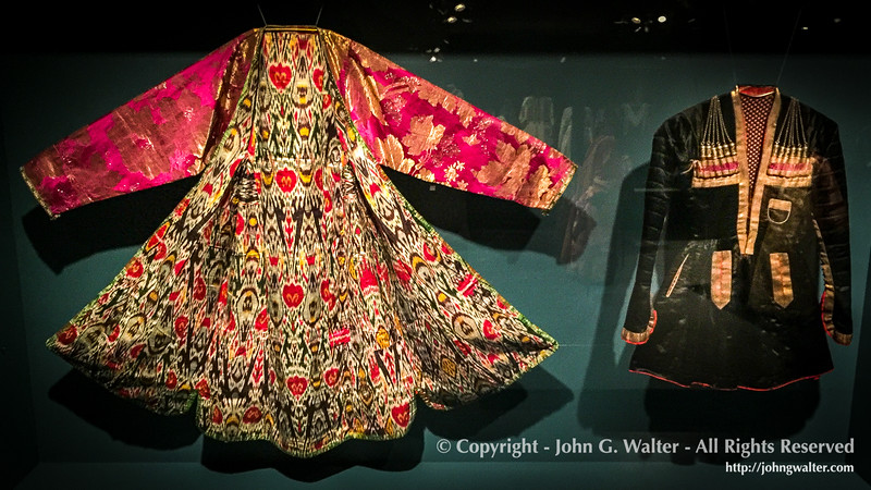 Women's Kaltachak and Man's Coat - Bukhara, Uzbekistan